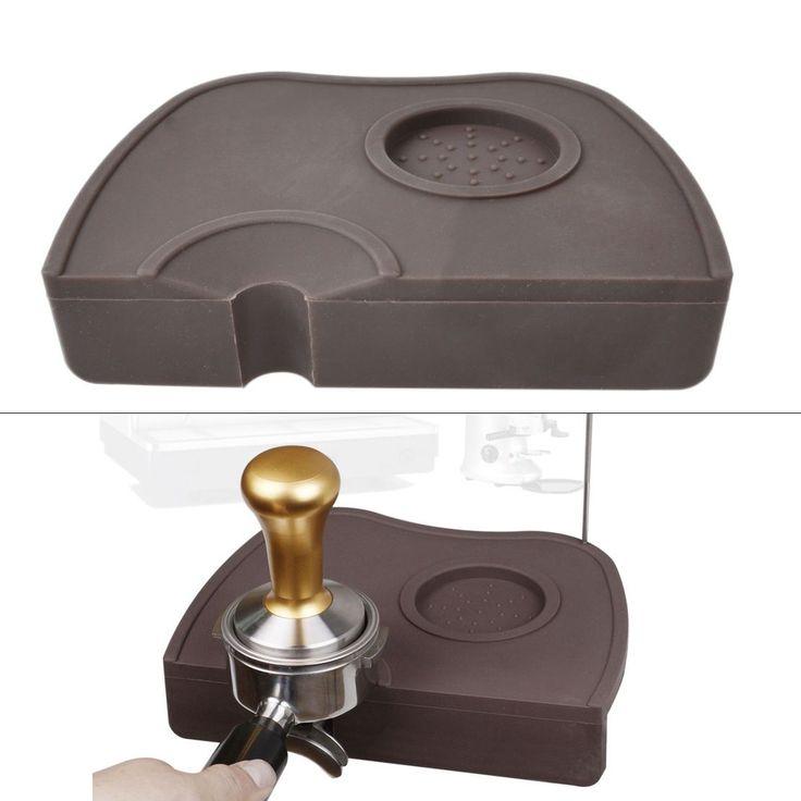Manual Barista Coffee Espresso Tamper Latte Art Pen Portafilter Holder Pad Mat