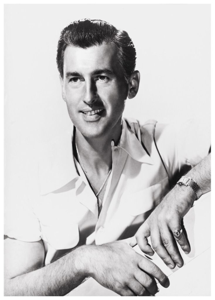 the actor stewart granger wears a gold tank cintr e watch. Black Bedroom Furniture Sets. Home Design Ideas