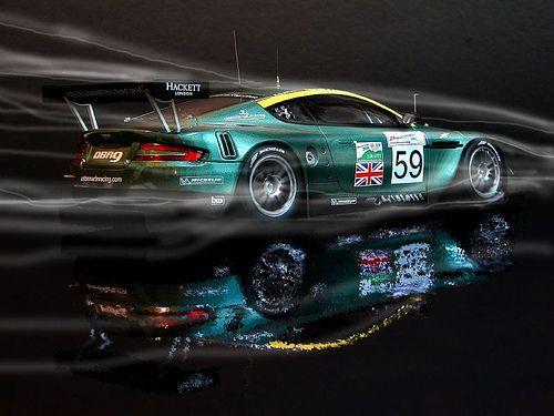 Aston Martin in British Racing Green