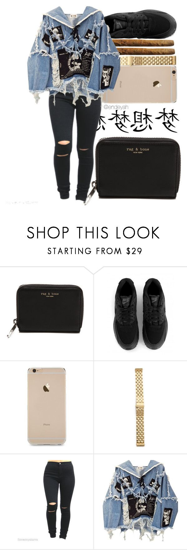 """""""·Bïtch better have my money·"""" by endeyah ❤ liked on Polyvore featuring moda, rag & bone, NIKE, Michele y BLK DNM"""