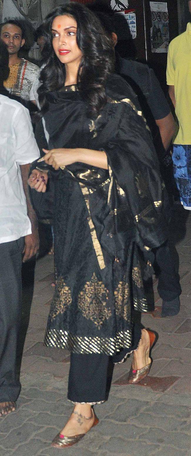 Deepika Padukone visiting Siddhivinayak temple. #Bollywood #Fashion #Style…