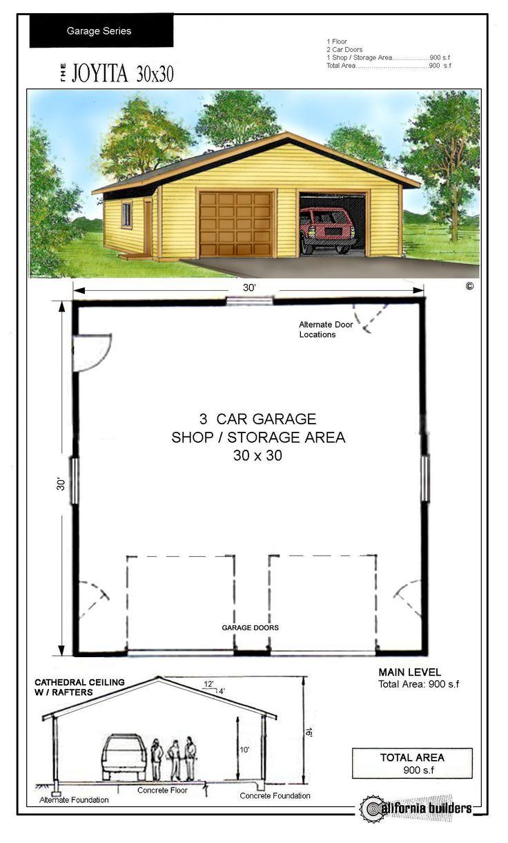 24 best house designs images on pinterest architecture for Kit da garage 30x30