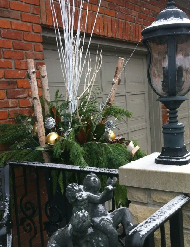 Customized Christmas Urn Decor