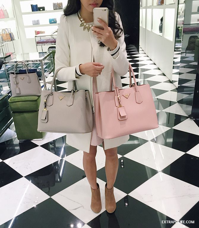 8dd3d5ea5c Prada Saffiano Cuir Double Bag Review   Designer ♥ Handbags   Prada ...