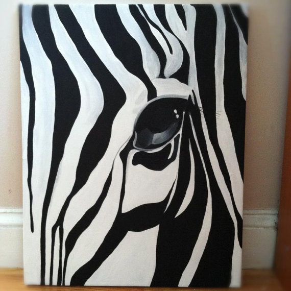 Items similar to zebra painting on etsy