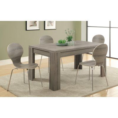 Monarch Greyson Reclaimed Wood Rectangle Dining Table 5 Piece Set Entrancing Taupe Dining Room Chairs 2018