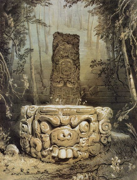 Drawing From the Past Maya Antiquity Through the Eyes of Frederick Catherwood : Idol and Altar at Copán