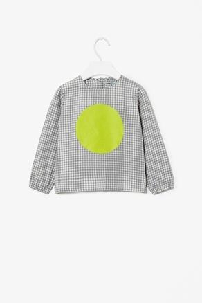 Gingham Dot print top
