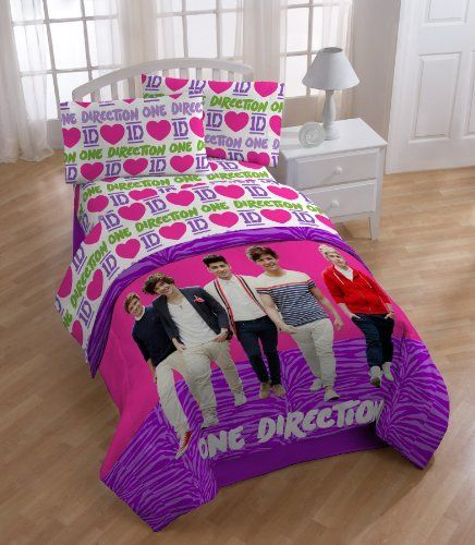 One Direction Love 1D 3pc Twin Bed Sheet Set By One Direction, Http:/