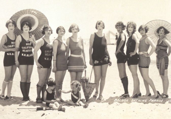 Small section of a panoramic photograph of the 1925 Bathing Beauty Parade in Long Beach, California. :)