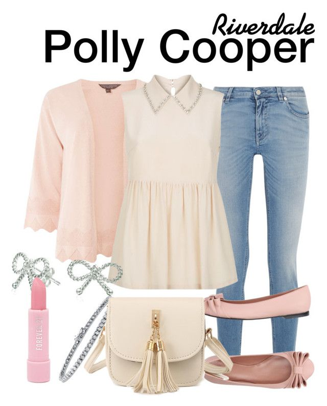 Polly Cooper Riverdale by sparkle1277 on Polyvore featuring polyvore, fashion, style, MaxMara, Dorothy Perkins, Givenchy, RED Valentino, WithChic, Bling Jewelry, BERRICLE, Forever 21 and clothing