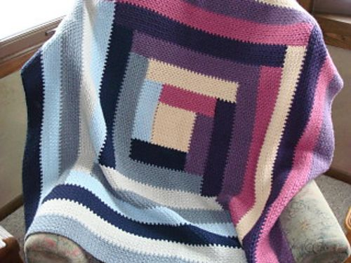 """Quilt Inspired Throw."" From Crochet Today! All-Time Best Blankets 2010. Ravelry. Free pattern."