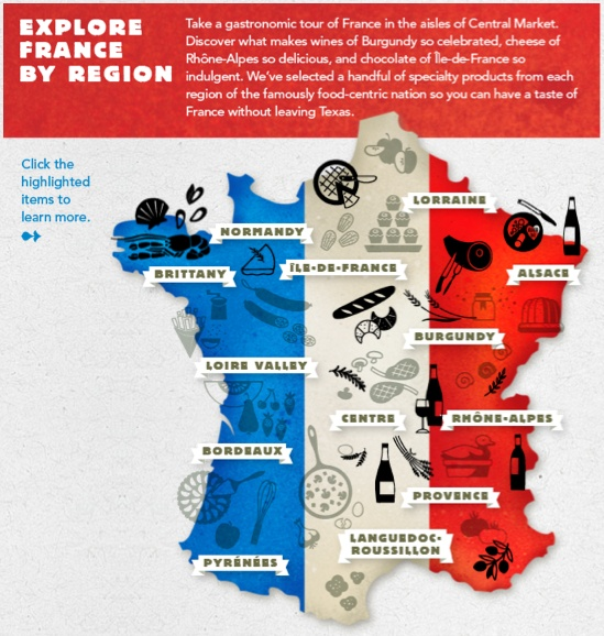 Click through to explore French cuisine by region on centralmarket.com