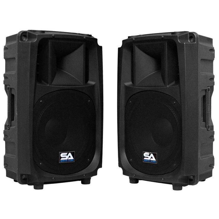 L Wave-12 - Pair of 2-Way 12 Inch Powered PA Speaker Cabinets