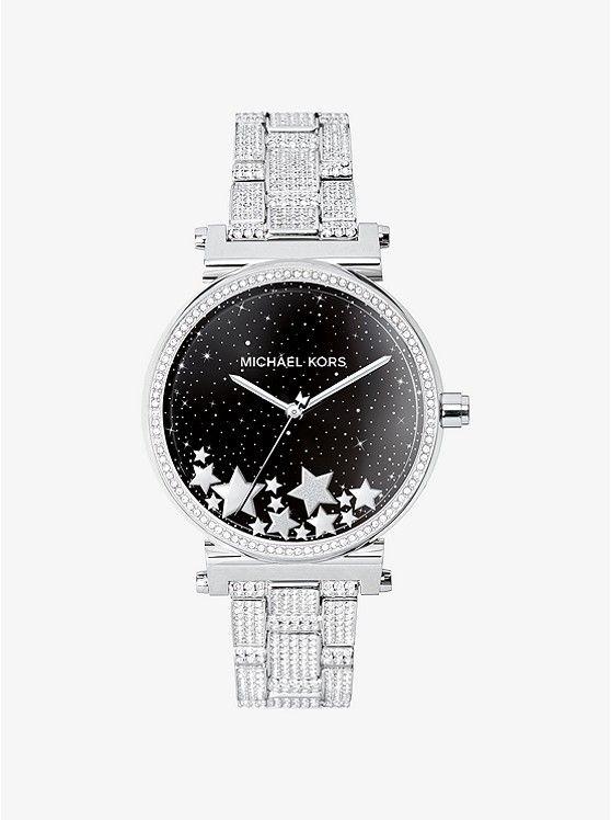 Michael Kors Sofie Pavé Silver-Tone Smartwatch  mk   Designers  M ... 34d2e7cab0