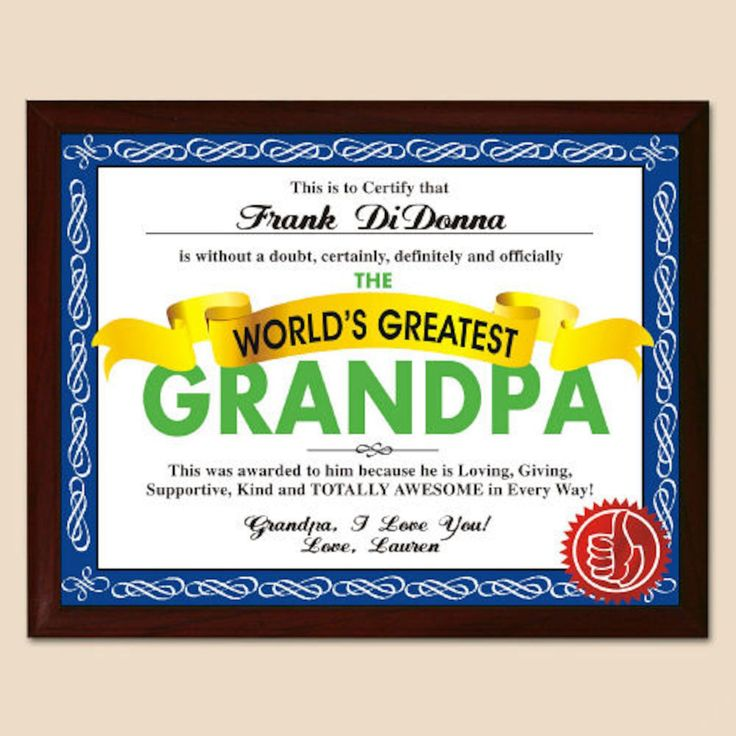 Personalized World's Greatest Dad Plaque