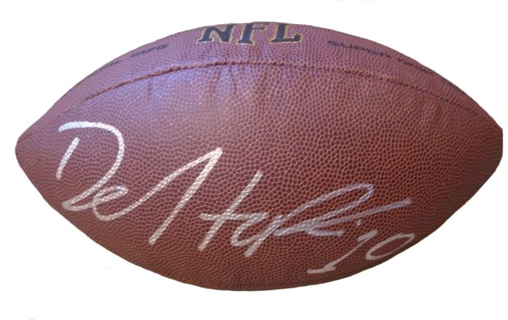 DeAndre Hopkins Autographed NFL Wilson Composite Football, Proof Photo. DeAndre Hopkins Signed NFL Football, Houston Texans, Clemson Tigers, Proof  This is a brand-new DeAndre Hopkins autographed NFL Wilson composite football.  DeAndre signed the football in silver paint pen. Check out the photo of DeAndre signing for us. ** Proof photo is included for free with purchase. Please click on images to enlarge. Please browse our website for additional NFL & NCAA football autographed collectibles…
