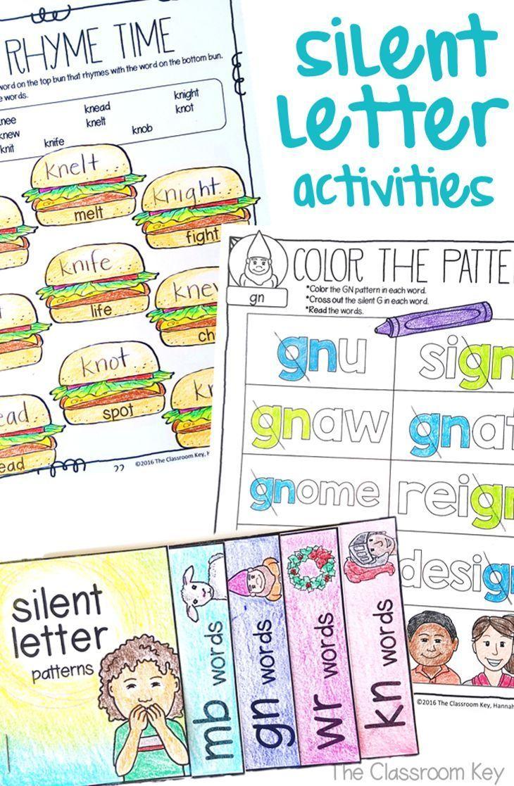 Silent Letter Activities ($) Phonics practice pages [ 1117 x 730 Pixel ]