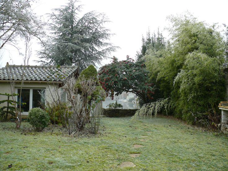 Vue sur l'étang en hiver Maison a vendre, Etang, Maison