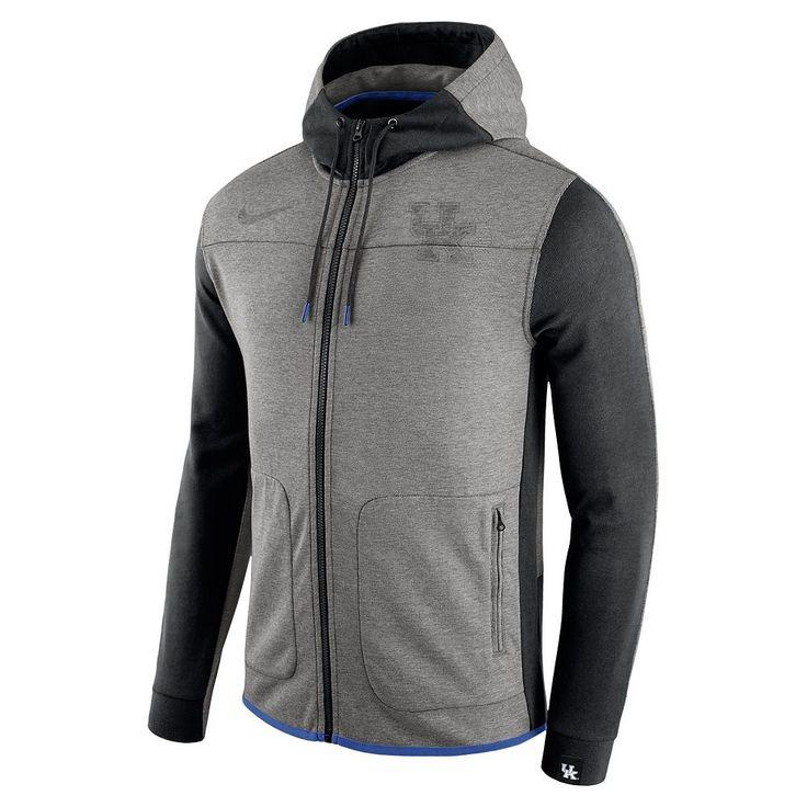 Men's Nike Kentucky Wildcats AV15 Full-Zip Fleece Hoodie, Dark Grey