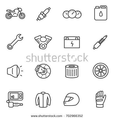 stock-vector-motorcycles-collection-of-icons-in-a-linear