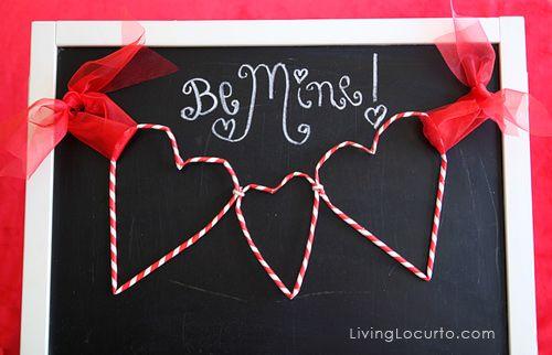 paper straw heart garland