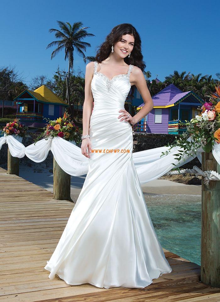 Små vita klänningar Vår Bar rygg Bröllopsklänningar 2014