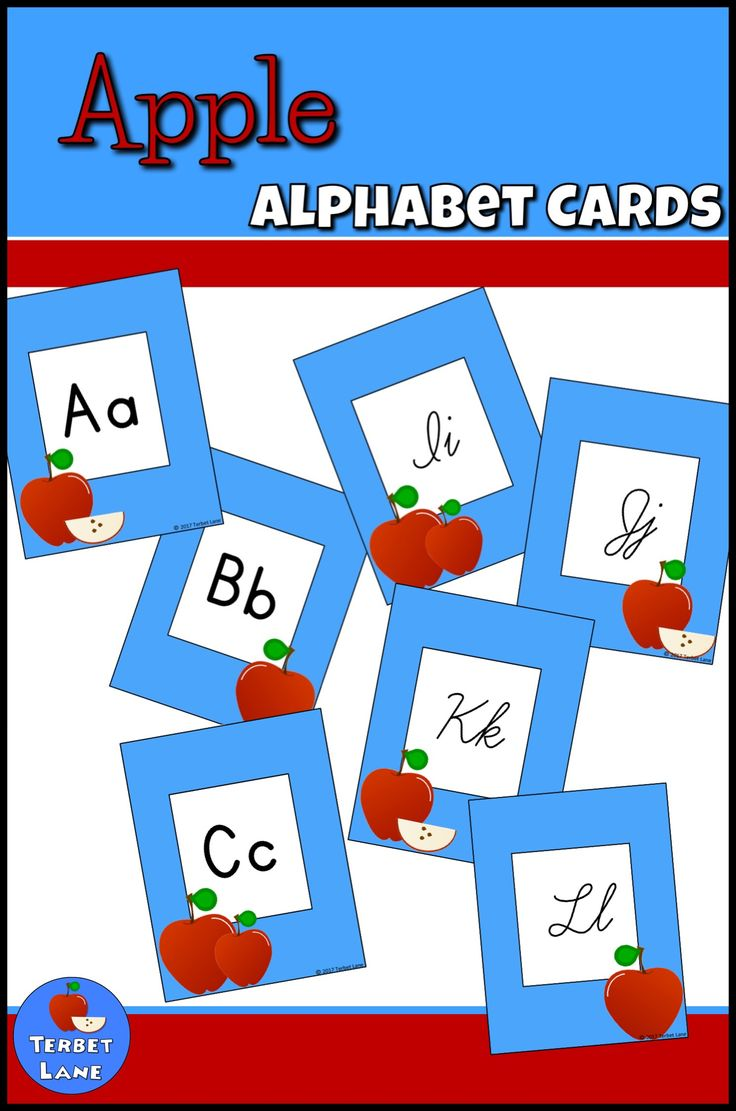 Colorful Apple themed alphabet cards perfect for a clean, classic alphabet line or word wall. Just in time for back to school!