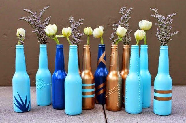 Paso a paso para decorar un frasco con encaje.