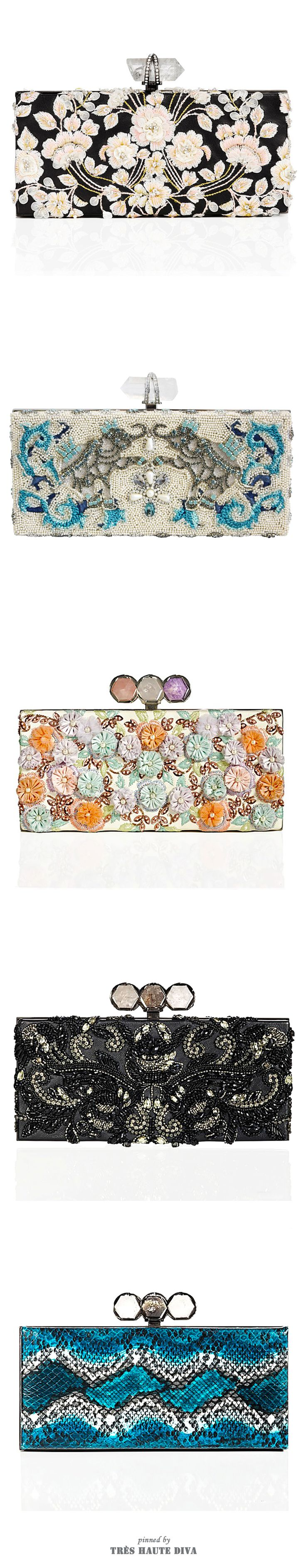 Marchesa ♔ Evening Clutches ♔ Resort 2015, 2013