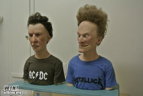 Creepy and accurate...Artists, Sculpture, Real People, Real Life, The Real, Funny, Beavis, Butt Head, Butthead