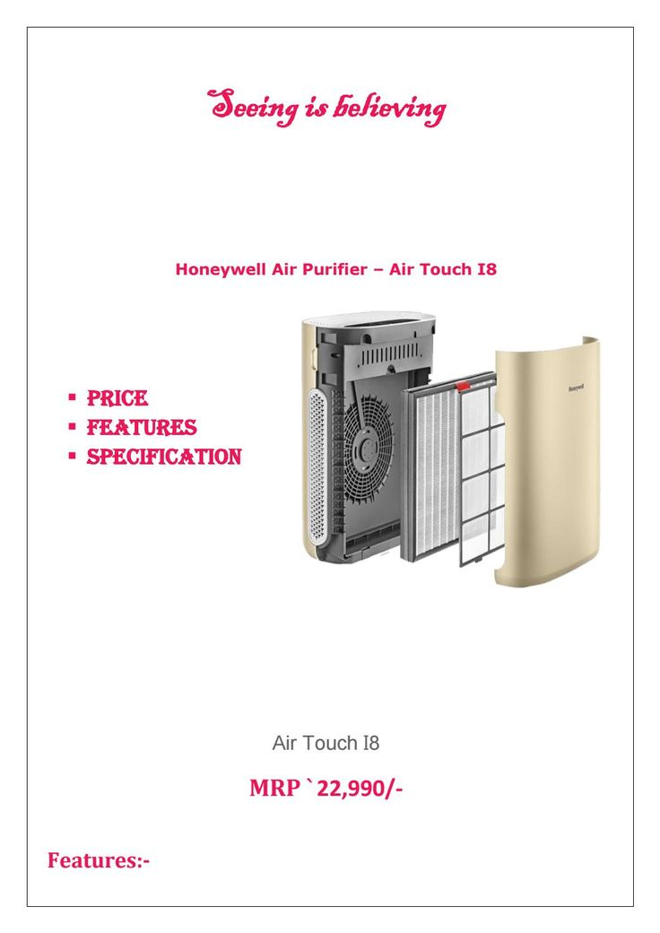 Honeywell air touch i8 air purifier price, features and specifications