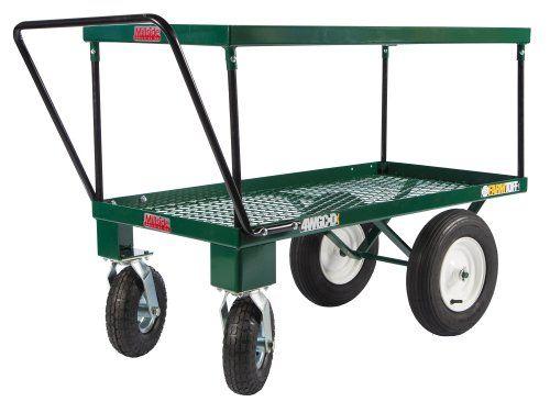 farm tuff 4wheel double deck push cart 24inch by 48
