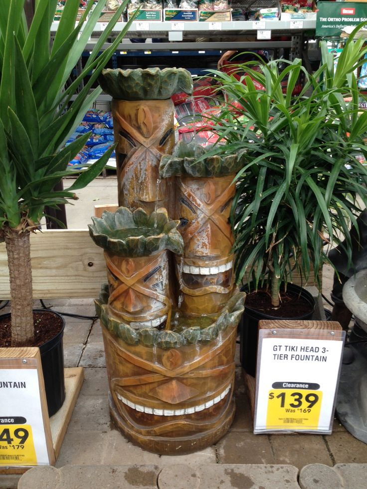 Tiki Fountain At Lowes Backyard Ideas Pinterest
