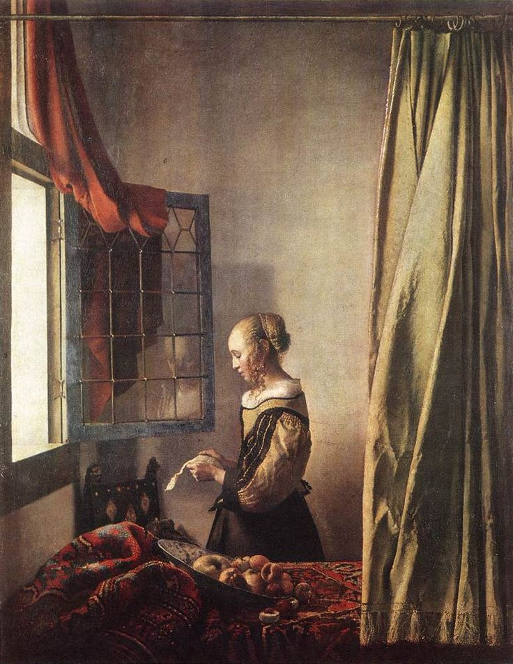 Whats written in the letter? (painting by Vermeer)Girls Reading, Dutch Artists, Masterpiece Oil, Oil On Canvas, Jan Vermeer, Favorite Art, Open Windows, Letters, Oil Painting