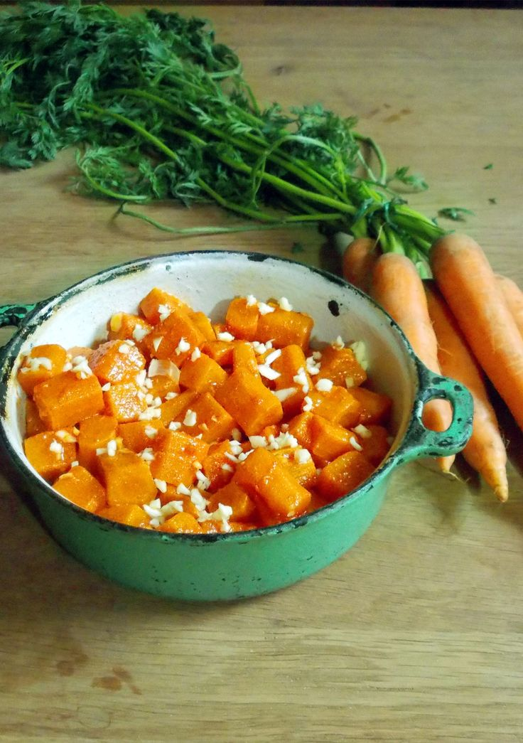Funky spicy carrot salad --  Spice up your life with this funky carrot and garlic salad which makes an excellent entrée or a side dish and is incredibly easy to make, and fun to eat.