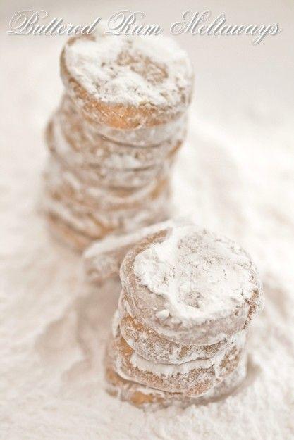 Zimowe maślane ciasteczka z rumem / buttered rum meltaways