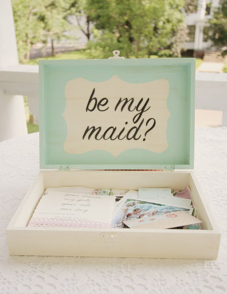 most amazing invite to bridal party ever. love how sweet, simple, & thoughtful it is. definitely worth reading the whole thing