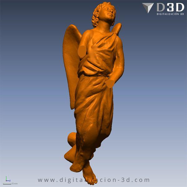Digitalizado 3d del Ángel izquierdo con brazos cortados