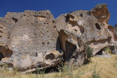 Phrygian Valley - located close to Aslantas rock tomb, these giant collapsed stones are the sole remains of a vast rock-cut santuary as if destroyed by some kind of cataclysm or sudden catastrophe