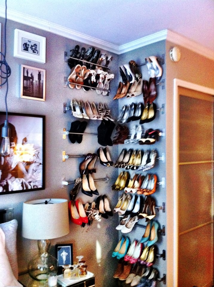 Simple shoe storage ideas | Vivian Lou Insolia® insoles for high heels