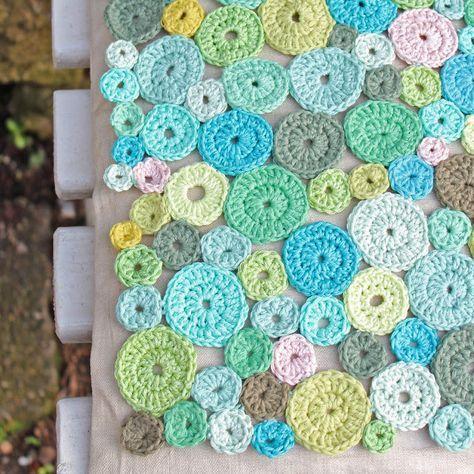seidenfeins Blog vom schönen Landleben: Häkel - Pünktchen ..manuell ! * DIY * manuell & crocheting dots and dots
