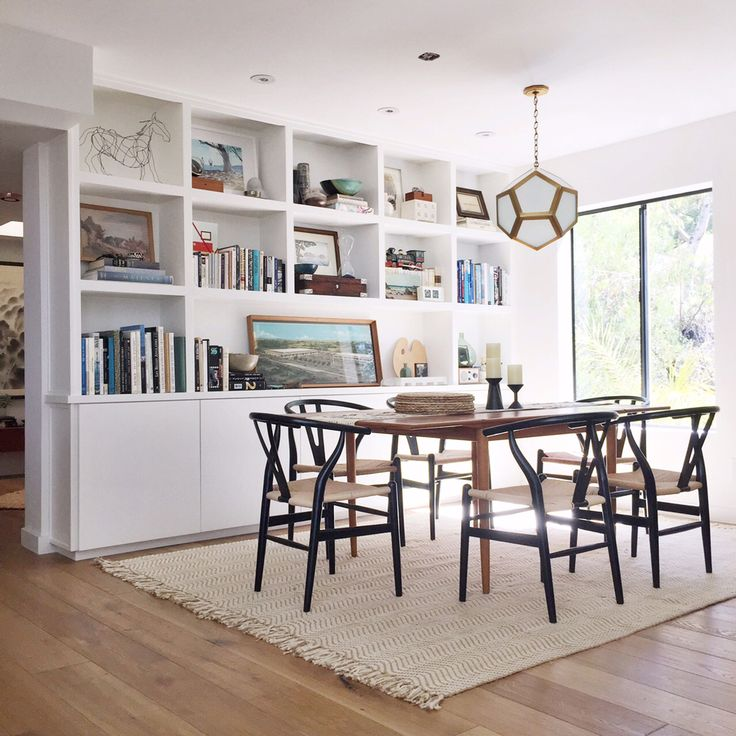 look at these gorgeous built ins, they would be perfect in the long random section of the living area with the dining table