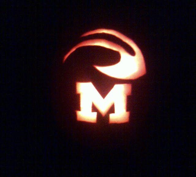 u of m pumpkin templates  Michigan M pumpkin - DONE | harvest. | Happy halloween ...