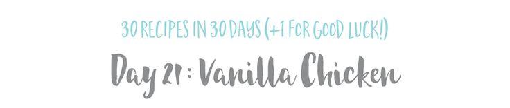 Vanilla + Thyme Chicken — The Wellness Collective