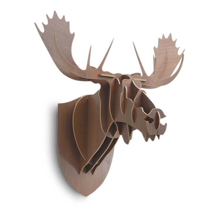 1000 images about 3d dyr on pinterest reindeer deer and wall decorations - Cardboard moosehead ...