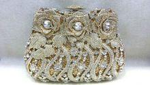 A15-42, Cor prata anel de pedras de cristal embreagens sacos de festa agradável(China (Mainland))