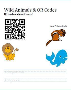 Wild animals qr codes and class activities on pinterest