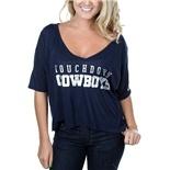 Dallas Cowboys PINK Cropped Wide Tee | Dallas Cowboys Clothing | Dallas Cowboys Store - Dallas Cowboys Pro Shop