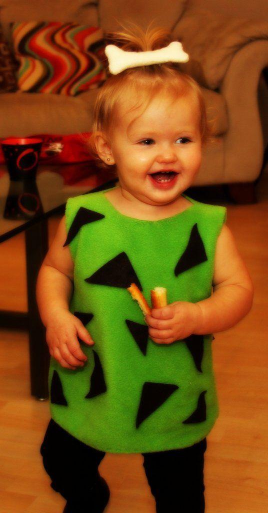 DIY Pebbles Halloween Costume